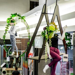 """""""Let's have mannequins with flower adorned heads sit inside  massive hangers that we hang from the ceiling of a shopping mall with cherry pickers!"""" Throwback to the East Rand Mall Fashion Mile and the type of elaborate ideas Louinette comes up with! Best part is... she always delivers!! 4 years ago today we were busy setting up a large wedding when our fearless leader Louinette went into premature labour with her second son. Today we can laugh about that day and relish in the fact that in 4 years time we have been abundantly blessed both in business and our personal lives. Happy 4th Birthday to Leander and a big congrats to @luluweyer  and Erik on the birth of their 3rd son last week!! We ❤️ you!#eventplanners #eventdecor #decorstyling #gautengevents"""